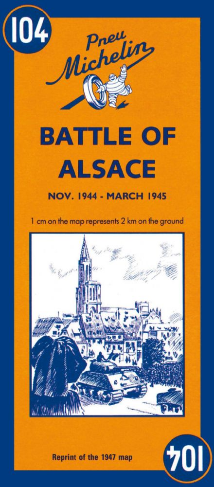 Battle of Alsace - Historical Michelin Map 104
